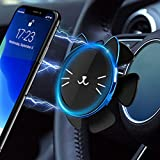 CHLIVE Steering Wheel Magnet Phone Mount Holder,Gravity Sensing Automatic Balancing,Applicable to All Models of Mobile Phones (Blue)