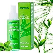 Green Tea Matcha Balancing Toner, Alcohol-Free Facial Mist, 90% Organic Face Spray, Best Pore Minimizer & Calming Skin Treatment For Sensitive, Dry & Combination Types, Prep for Serum & Moisturizer