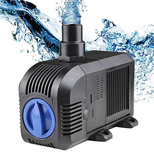 H&RB Pompa per Laghetto con Filtro Ad Acqua, Super Eco Pompa Laghetti Sommergibile, Anfibio Pompe Acquario Laghetto, per Terrari, Sistemi di Circolazione per Laghetti Carpa,HJ2500