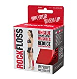 Rocktape RockFloss 4' Compression Muscle Recovery Tack Mobility Band, Flossing for Muscle Soreness, Range of Motion, Red