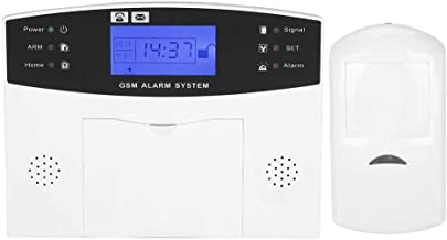 Home Security Alarm, Voice Prompt Wireless LCD Display Home Security System, Villa Apartment Office for Home(European Stan...