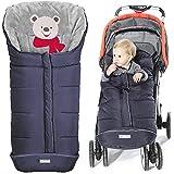 Orzbow Warm Bunting Bag Universal,Stroller Sleeping Bag Cold Weather,Waterproof Toddler Footmuff(Blue,Large)