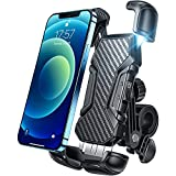 Phone Holder for Bike, [Never Shaking & Breaking] LISEN Motorcycle Phone Holder -2021 Upgrade Bike Phone Mount Compatible with iPhone 13 13 Mini 13 Pro Max 12 Samsung Galaxy S21 Note20 and More