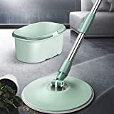 GJJSZ A Set Easy Floor Mop 360 Bucket Microfiber Spin Spinning Rotating Head Mops Set Herramienta de Limpieza de baño