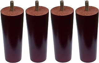 Furniture Legs Sofa Replacement Parts Wooden Sofa Legs, Set of 4