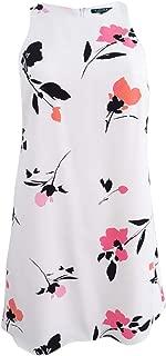 Women's Petite Floral Crepe Dress (10P, Cream Multi)