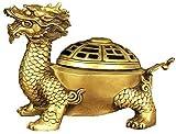 QJL_ANA Ahumado Agujero dragón Tortuga incensario Estatua, fantasía decoración del hogar, Joyas...