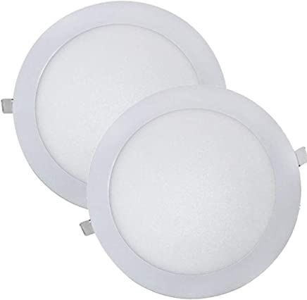 Led Atomant Pack 2x Downlight Led Panel Extraplano Redondo, Iluminacion 18 W, Blanco Frio 6500K, 1600 Lumenes reales. Driver incluido, 225mm, 2