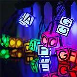 Außenhof Dekoration Led-Leuchten Solar Buchstaben String Girlande Wasserdichte Girlande...