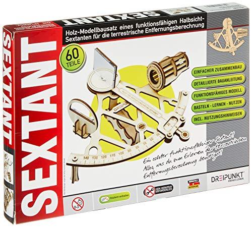 Bausatz Sextant: Detaillierter Holz-Modellbausatz eines funktionsfähigen Sextanten