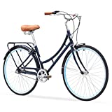 sixthreezero Ride In The Park Women's 3-Speed Touring City Bike, 26' Wheels/17' Frame, Navy Blue,...