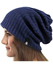 Dames Slouchy Beanie Slaap Muts Brei Baret Lang Baggy Schedel Cap Winter Zomer Chemo Hoed