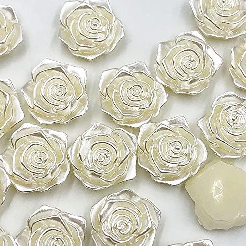 YLPXSXGY 20 unids/Pack Blanco Hermosos 18 mm Perlas Artificiales Perlas Garland Flores DIY Bodas Decoración de la Decoración Productos Suministro (Color : Beige)