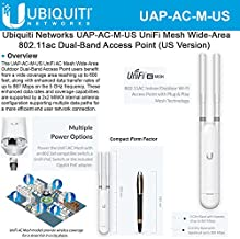 Ubiquiti Networks UAP-AC-M-US UniFi AC Mesh Wide-Area In/Out Dual-Band Access Point (US Version)