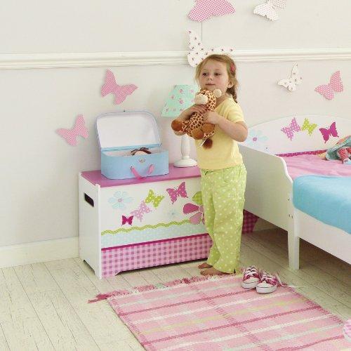 Schmetterlinge und Blumen - Spielzeugkiste für Kinder – Aufbewahrungsbox für das Kinderzimmer - 2