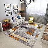 HXJHWB Alfombra De Salón Moderna De Pelo Corto - Alfombra Rectangular Simple, Antideslizante, Sala de Estar, Oficina,...