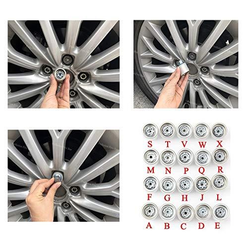 FJiuJin, 2019 1pcs pneus Anti-vol Vis désassemblage Outil Manches clé for Audi A1 A5 A3 A4L A6L A7 Q3 Q5 A8 TT R8 (Color Name : Q)