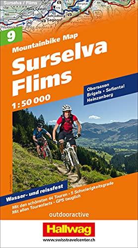 Mountainbike-Karte 09 Surselva - Flims 1 : 50.000: Mit den schönsten 44 Touren, 5 Schwierigkeitsgrade, mit allen Tourenfacts, GPS tauglich (Hallwag Mountainbike-Karten)