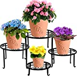 yosager 4 Pack Metal Plant Stands for Flower Pot, Heavy Duty Potted Holder,...
