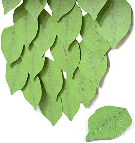 10PACK Fyess Leaf Sticky Notes Memo Pad Creative Simulate Tree Leaf Paper Sticky Pads Nifty product image