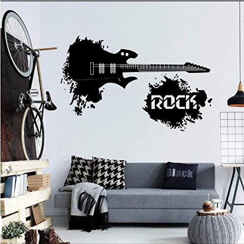 Guitarra Eléctrica Abstracta Con Citas Famosas De Rock En Un Mundo Salpicaduras Pegatinas De Pared Música Para El Hogar Decoración De Arte Vinilo Mural De Pared Calcomanías De Moda 42X68Cm