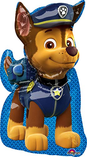 Anagram Pallone Foil Supershape 58 X 78 Cm Paw Patrol Chase, Multicolore, 7A3449501