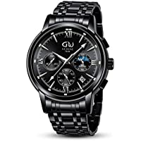 WISHDOIT Chronograph Waterproof Stainless Steel Watches for Men