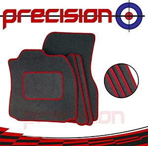 Precision  ia SOUL 2014-2017 Fitted Tailored Grey Classic Carpet Car Mats with Red Solid SSSGYQ227RP