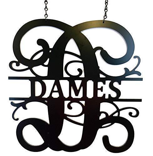 Decorative Initials for Front Door Topics on TV ACM Name Last specialty shop Pers Sign Metal