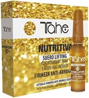Tahe Nutritiva 24h Suero Lifting con Vitamina C Pura y Ácido Hialurónico (10 x 2 ml) Reduce el Aspecto de Líneas Arrugas ...