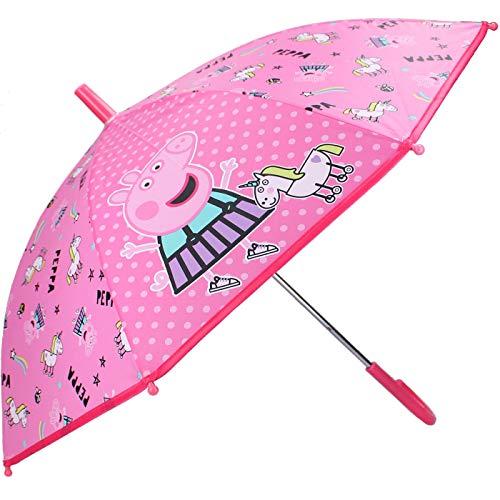 Paraguas Peppa Pig Niña Paraguas Manual Infantil Peppa Unicornio 62cm, Color Rosa Paraguas clásico