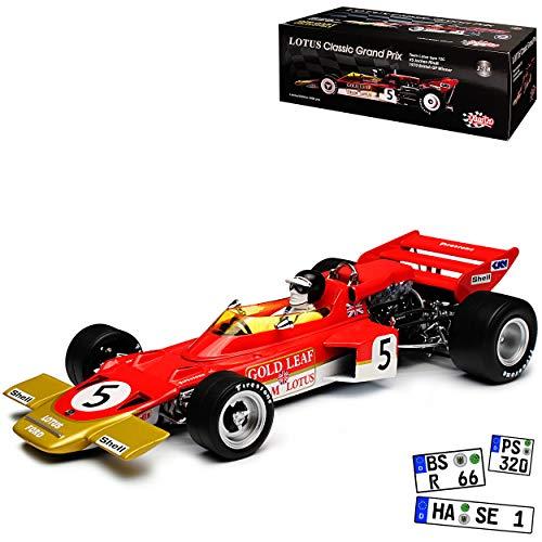 Unbekannt Lotus 72C Jochen Rindt 1970 British GP Gewinner Formel 1 1/18 Quartzo Sun Star Modell Auto