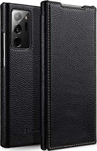 StilGut Book Hülle kompatibel mit Samsung Galaxy Note 20 Ultra Hülle aus Leder zum Klappen, Klapphülle, Handyhülle, Lederhülle - Schwarz