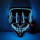 BFMBCHDJ Máscara LED Fiesta de Halloween Máscaras de...