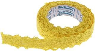 gazechimp 2yds Tecido Rendas Fita Washi Rolo Fita Fita Meninas Favorito Artes Artesanato DIY - amarelo