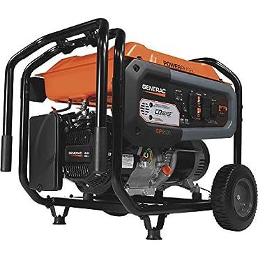 Generac 7680 GP6500 Portable Generator, Orange, Black