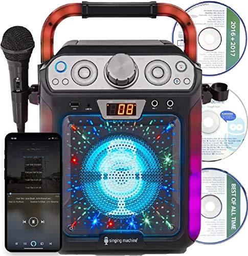 Singing Machine SML682BTBK Bluetooth Karaoke, Nero