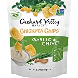ORCHARD VALLEY HARVEST Chickpea Chips, Garlic & Chives, 3.75 oz (Pack of 8), Non-GMO, No Artificial Ingredients