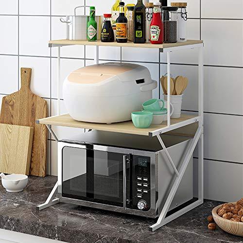 Baker's Rack Microwave Oven Rack, 3-Tier Kitchen Counter...