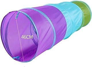 XBR Vikbar barntält, tält inomhus lektunnel, cylindrisk krypande tunnel pojkar och flickor utomhus pop-up tunnel med bärvä...