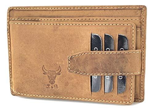 Tarjetero de piel para tarjetas de crédito, carné de conducir RFID, número de referencia 2705