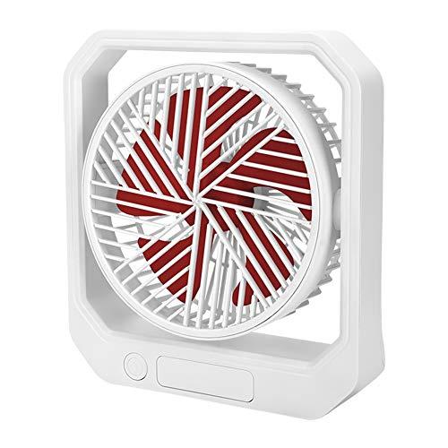 SODIAL Ventilador USB de Escritorio RefrigeracióN PortáTil Ventilador de 3 Velocidades con áNgulo Ajustable de RotacióN 360 para Oficina Hogar Viajes Rojo
