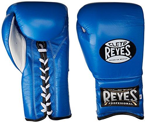 Cleto Reyes - Guantes de entrenamiento de boxeo, guantes para kickboxing, muay thai, guantes para sparring - RETR BLUE 12OZ, Azul
