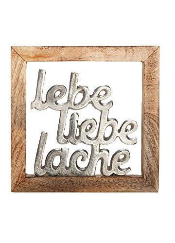 G.i.l.d.e Rahmen Lebe, Liebe, Lache Höhe 20 cm