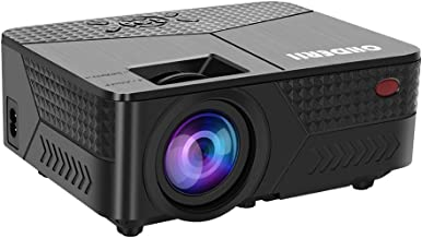 OHDERII Mini Projector, 1080p 120 Inch Display Supported, Compatible with HDMI, VGA, USB, SD Card for Gaming, Movies,Ultra Quiet Long Lasting 30,000 Hour Operating Life, Multiple Mounting Points