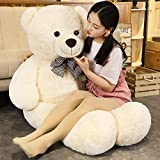 FSN Giant Teddy Bears Big Cute Stuffed Plush Teddy Bear Large for Girlfriend Children, 55in/140cm, White