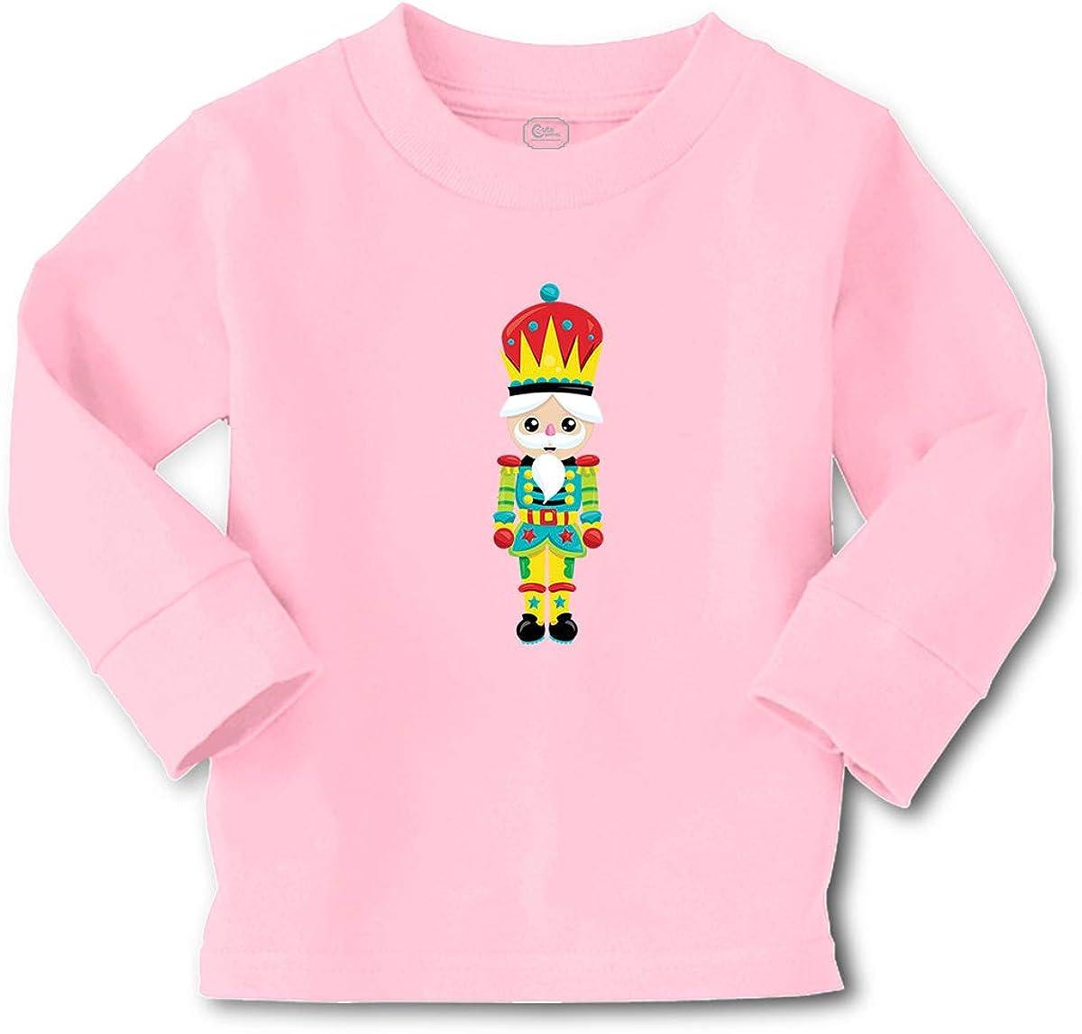 Custom Kids Long Sleeve T Shirt Nutcracker 3 Cotton Boy & Girl Clothes