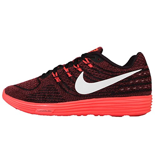 Nike Herren Lunartempo 2 Laufschuhe, Red/White/Black/Orange (Unvrsty Rd/White-blk-Brght CRM), 41 EU