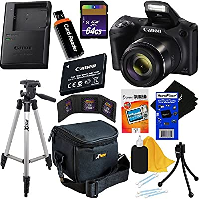 Canon Powershot SX420 IS 20 MP Wi-Fi Digital Camera with 42x Zoom + NB-11L Battery & AC/DC Battery Charger + 9pc 32GB Deluxe Accessory Kit w/HeroFiber Ultra Gentle Cloth by