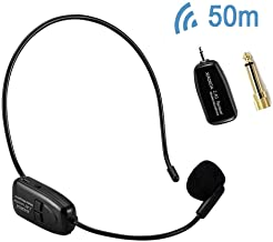 XIAOKOA 2.4G Wireless Microphone Headset, Wireless Mic Headset And Handheld 2 In 1 Rechargeable For Voice Amplifier, Stage Speakers, Tour Guides, Teaching, PA system (New-80)